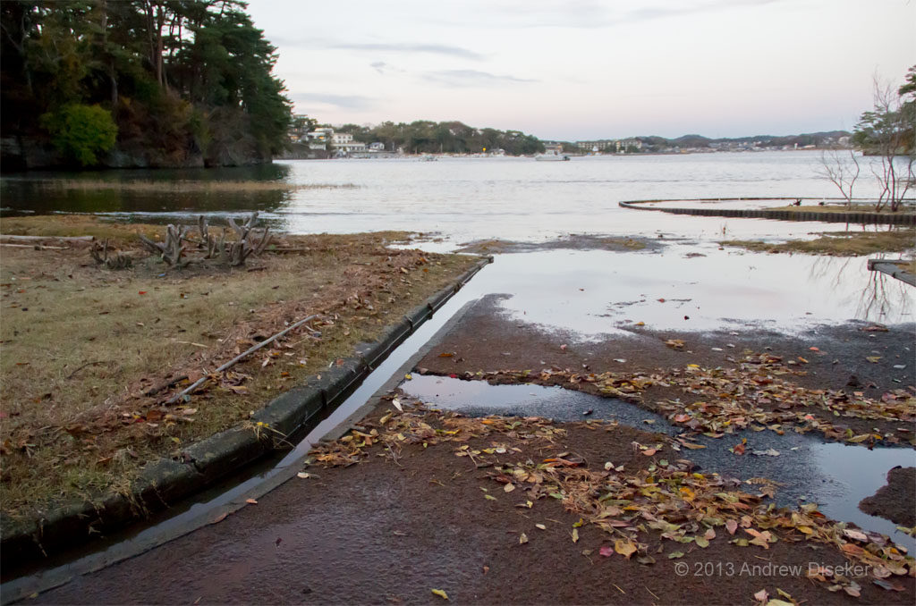 Matsushima bay at much higher tide 2012