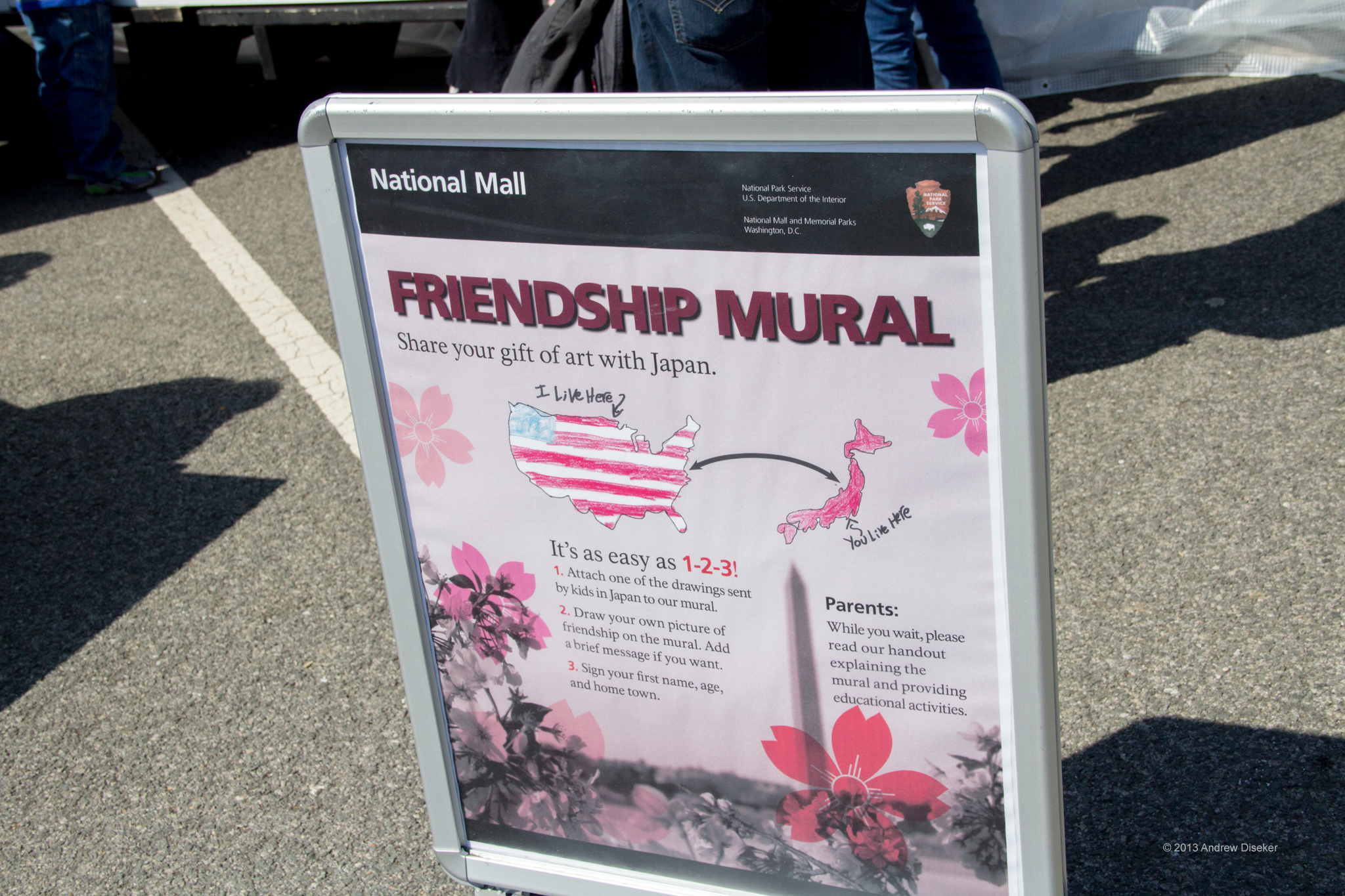 Sign describing the Friendship Mural project
